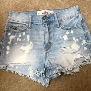 High waisted short shorts